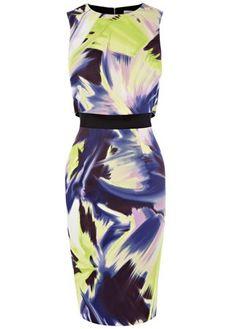 Karen Millen tropical print dress, £160