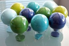 How to paint the inside of glass or plastic ornaments.