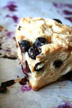 Buttermilk Blueberry Scones... i must be hungry? keep posting wonderful sounding food. there is nothing like a moist, fruity scone