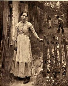 Pioneer woman in the American West....late 1800's.