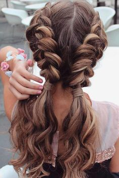 Long Hair Braids: Braided Hairstyles for Long Hair: Wavy Double Dutch Braids . , Long Hair Braids: Braided Hairstyles for Long Hair: Wavy Double Dutch Braids Source by , Beauty Easy Summer Hairstyles, Hairstyles 2016, Braid Hairstyles For Long Hair, Wedding Hairstyles, Teenage Hairstyles, 1930s Hairstyles, Stylish Hairstyles, Natural Hairstyles, Hairstyles Tumblr