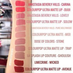 Colourpop dupes with Anastasia, Limecrime, Dose of Colors, and LA Splash!