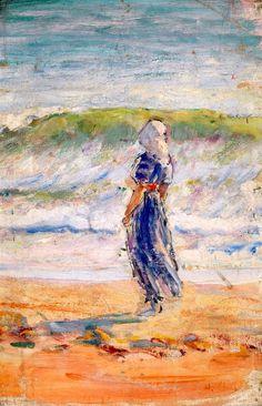 Jeune femme au bord de l`eau / Henri Lebasque