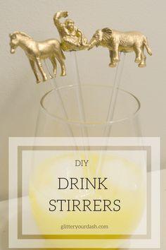 DIY Animal Drink Stirrers