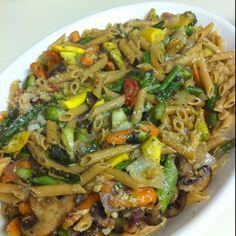 Whole Wheat Pasta with Roasted Veggies