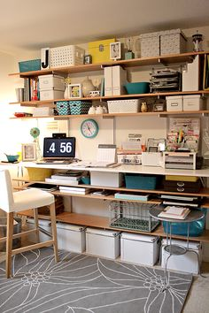 love the floating shelves.