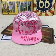 924e74278ec92 Hello Kitty Niños Del Casquillo Casquillos Del Bebé Infantil Chicos Chicas  Sombreros Del Snapback Deportes Gorra