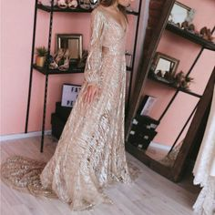 Bishop Sleeve, Dresses Online, V Neck, Wedding Dresses, Sexy, Long Sleeve, Products, Fashion, Bride Dresses