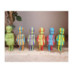 Striped Clonette dolls made of recycled plastic www.clonettedolls.cm