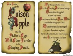 Disney inspired poison apple two page layout