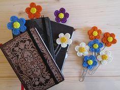 Planner clips - 3 paper clips - Flower paper clips - Felt bookmarks - Handmade 3  Graffette con Fiore in feltro  Segnalibri di di TinyFeltHeart