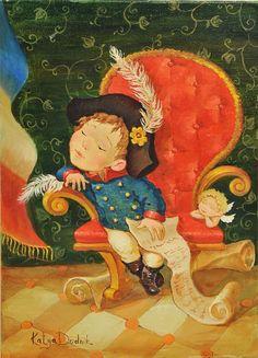 """""""Влюбленный Наполеон"""" (диптих), Катя Дудник"""
