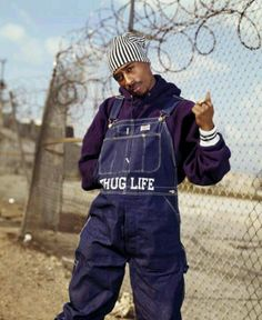 90's hip hop. Tupac thug life DUNGAREEEEEESS! (click picture), Tap photo to learn how to freestyle rap in less than 5 minutes #hiphop #rap