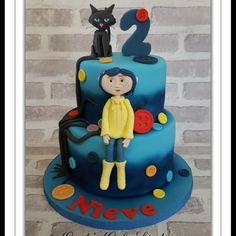 Coraline cake - Cake by Linda's cake studio Gothic Birthday Cakes, 3 Year Old Birthday Cake, Birthday Cupcakes, Boy Birthday Parties, Baby Birthday, Carolines Cakes, Movie Cakes, Coraline Jones, Occasion Cakes