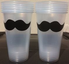 36 Mustache Party Cups, Mustache Party, Mystery Party Cups on Etsy, $22.50