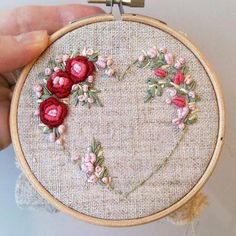 Wonderful Ribbon Embroidery Flowers by Hand Ideas. Enchanting Ribbon Embroidery Flowers by Hand Ideas. Brazilian Embroidery Stitches, Hand Embroidery Stitches, Embroidery Hoop Art, Hand Embroidery Designs, Vintage Embroidery, Cross Stitch Embroidery, Embroidery Supplies, Embroidery Ideas, Embroidery Needles