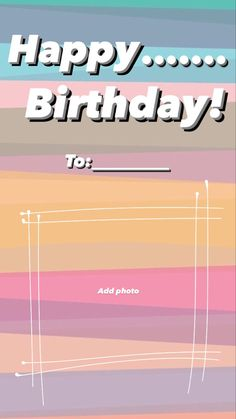Happy Birthday Template, Happy Birthday Frame, Happy Birthday Wallpaper, Birthday Captions Instagram, Birthday Post Instagram, Story Instagram, Instagram Blog, Happy Birthday Quotes For Friends, Creative Instagram Photo Ideas