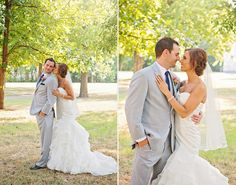Bride and Groom Portrait Golden Hour at Harn Homestead