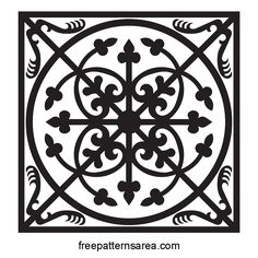 Decorative Square Medieval Ornament Tile  In this medieval design, geometric, symmetrical, natural and artificial elements, alone or in combined use. This is a classic medieval closed-ended ornament Square Panel. Contains decorative and symbolic traditional figures. This design is drawn with 2d cad software. Then converted to graphical vector file formats. It can be scaled with software such as AutoCAD, inkscape, CorelDRAW