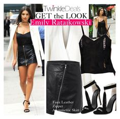 """""""TWINKLEDEALS.COM"""" by vict0ria ❤ liked on Polyvore featuring STELLA McCARTNEY, GetTheLook, leatherskirt, emilyratajkowski, twinkledeals and leatherzipperskirt"""
