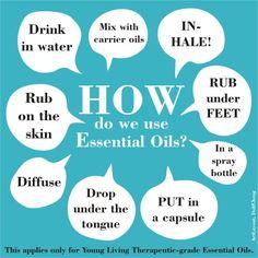 How to Use Essential Oils | LifeLoveandEssentialOils.com