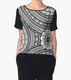 Boho pattern. Seamless oriental ornamental pattern by Nina Vetrova