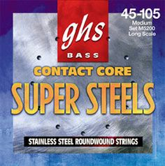 GHS M5200 Contact Core Super Steel Bass Guitar Strings