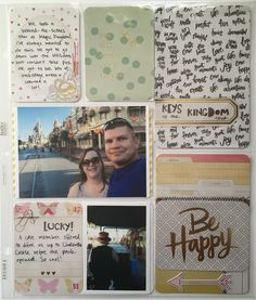 Mrs Crafty Adams: Disney Project Life Week 40 - Crate Paper Notes & Things