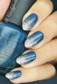This form somewhat reminds on the peaks of gad… One-colored nails decorate with rhinestones and you'll get glamorous manicure.