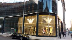 Emporio Armani's new store in Glasgow's Connect11ons retail centre on Ingram Street...