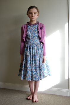 Oliver + S Fairytale Dress with Cardi by bred2make, with skirt cut from two full widths of fabric