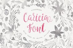 Caricia - handdrawn font by Favete Art on @creativemarket