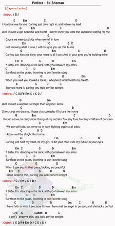 Perfect Chord – Ed Sheeran- Perfect Chord – Ed Sheeran Perfect Chord Easy song… Perfect Chord – Ed Sheeran- Perfect Chord – Ed Sheeran Perfect Chord Easy songs - Easy Chords Songs, Ukulele Songs Beginner, Guitar Songs For Beginners, Simple Ukulele Songs, Ukulele Songs Popular, Easy Piano Songs, Guitar Acoustic Songs, Guitar Chords And Lyrics, Guitar Chords For Songs