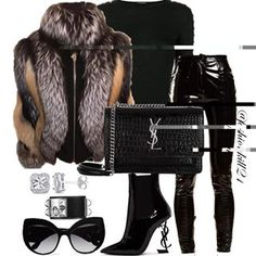 ITS A SITUATION  #justfab  Fur #Fancysuccess @_fancysuccess_  Top/Pants #Balmain Purse/Booties #Ysl Frames #DC #styledbyfashionkill21  Shop @_fancysuccess_ for custom luxury furs! Meet at the pop up December 8th at Harlem Haberdashery 245 Lenox Ave 12pm-6pm!