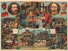 Manifesti contro l'alcolismo in Russia 1902