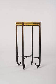 Faroh Side Table — Elan Atelier Square Side Table, Round Side Table, Side Tables, Table Furniture, Furniture Design, Modular Table, Tree Lamp, Block Table, Oval Mirror