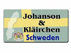 Länder - Nummernschild im Format 30x15 cm - Schweden - Hausnummern und Schilder online kaufen