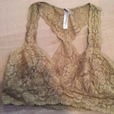 Free People Galloon Lace Racerback Bralette perfect condition never worn NWOT :) Free People Intimates & Sleepwear Bras
