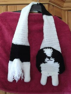 japanese chin dog crochet scarf by yasasii123 on Etsy, $17.00.