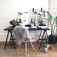 "Love everything here! The chair! The quill! the plants <3 <3 <3 | l-e-a-b-o: ""✚ ✚ ✚ via @jotitdownco on Instagram http://ift.tt/1SUxcBb """