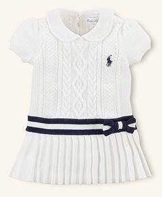 Ralph Lauren Layette, Baby Girls Pleated Dress - Kids Baby Girl (0-24 months) - Macys