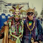 Merry masked men #MardiGras #NOLA