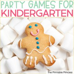 12 Best Holiday Party Games for Kindergarten Holiday Party Games, Kids Party Games, Holiday Parties, Holiday Fun, Preschool Christmas, Kids Christmas, Christmas Crafts, Graham Cracker Gingerbread House, Gingerbread Houses