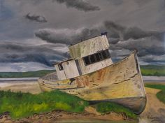 """Oil painting titled """"Point Reyes"""", done on a 16"""" x 20"""" x 1.5"""" canvas. SOLD"""