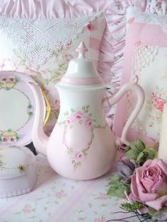 tea pot and pillows by Sweet n Shabby Roses
