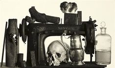 Irving Penn Sewing Machine with 13 Objects 1979