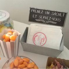 50 sachets en papier personnalisables pour candy bar - Place du Mariage