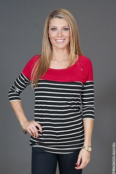 Crystal Wearables Striped Top $48.00