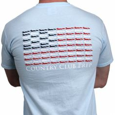 """Longshanks & Stripes Tee Shirt in Light Blue by Country Club Prep at Country Club Prep l Use Code """"XCGAL98"""" for 20% off"""