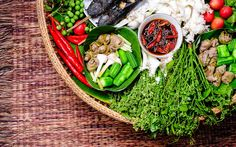 What are the basics of Thai cuisine? A few characteristics influence the flavor of this food and make it distinctive from other international dishes. Borneo, Chili, Good Student, Avocado Toast, Cobb Salad, Menu, Dishes, Breakfast, Food